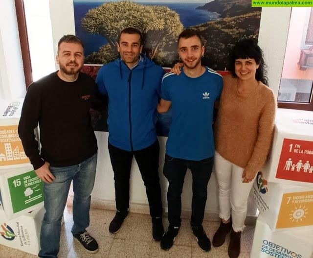 Dos nuevos alumnos realizan sus prácticas curriculares en la Reserva Mundial de la Biosfera La Palma.