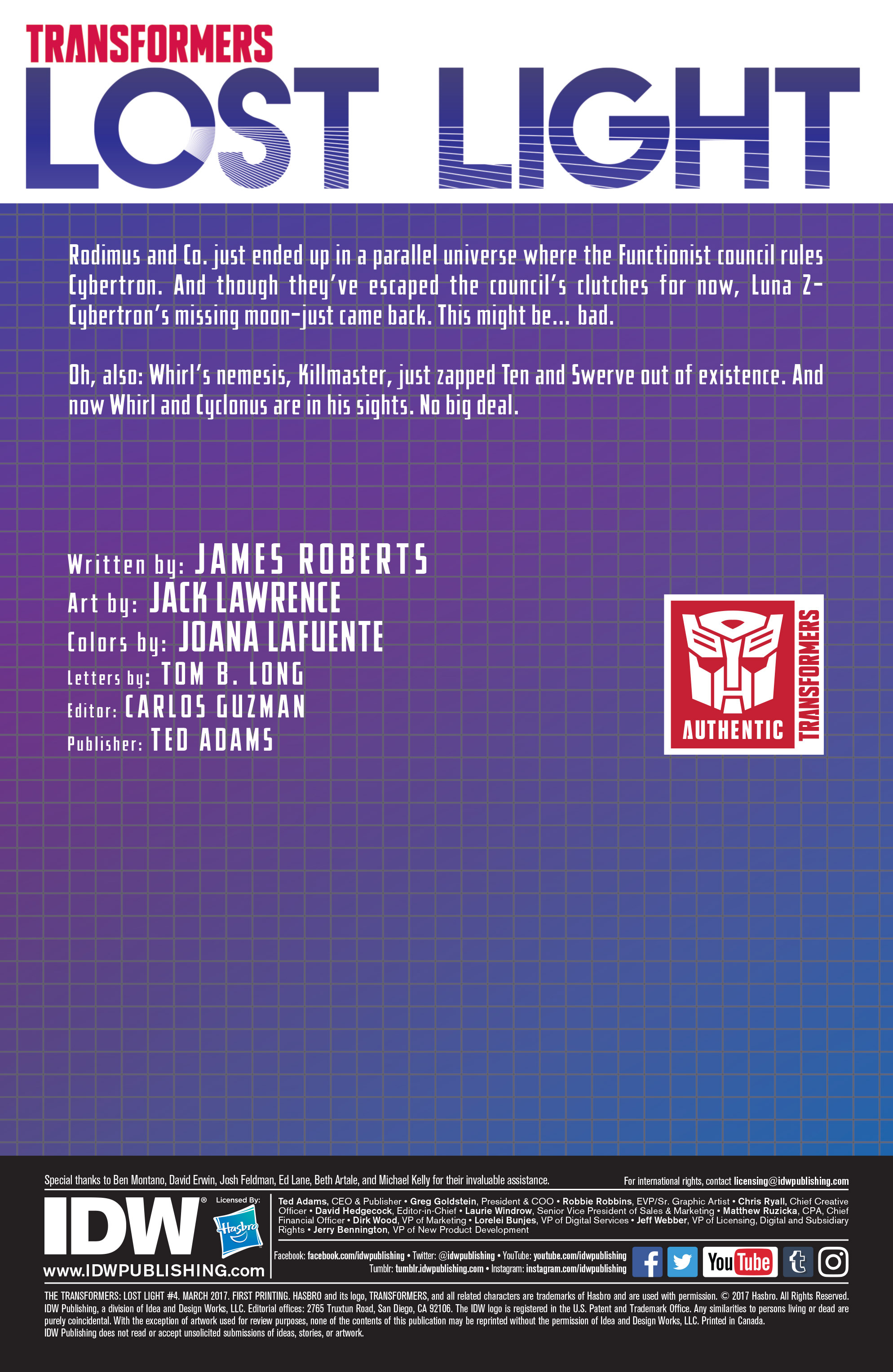 Read online Transformers: Lost Light comic -  Issue #4 - 2