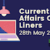 Current Affairs One-Liner: 28th May 2020