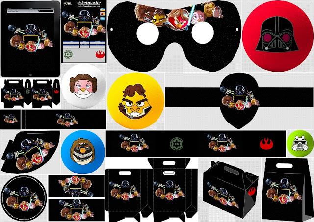 Angry Birds Star Wars: Kit para Fiestas para Imprimir Gratis.