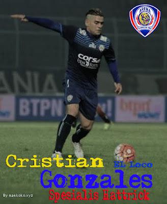 gambar Cristian Gonzáles tua - tua keladi Arema FC