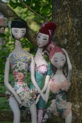 poupée art dolls fabric textile