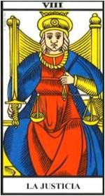 La Justicia- Arcano VIII- Tarot de Marsella