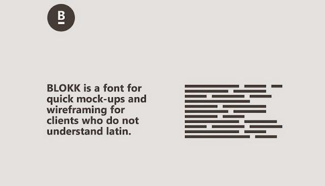 BLOKK: Tipografía sin-lenguaje para diseñar Mockups