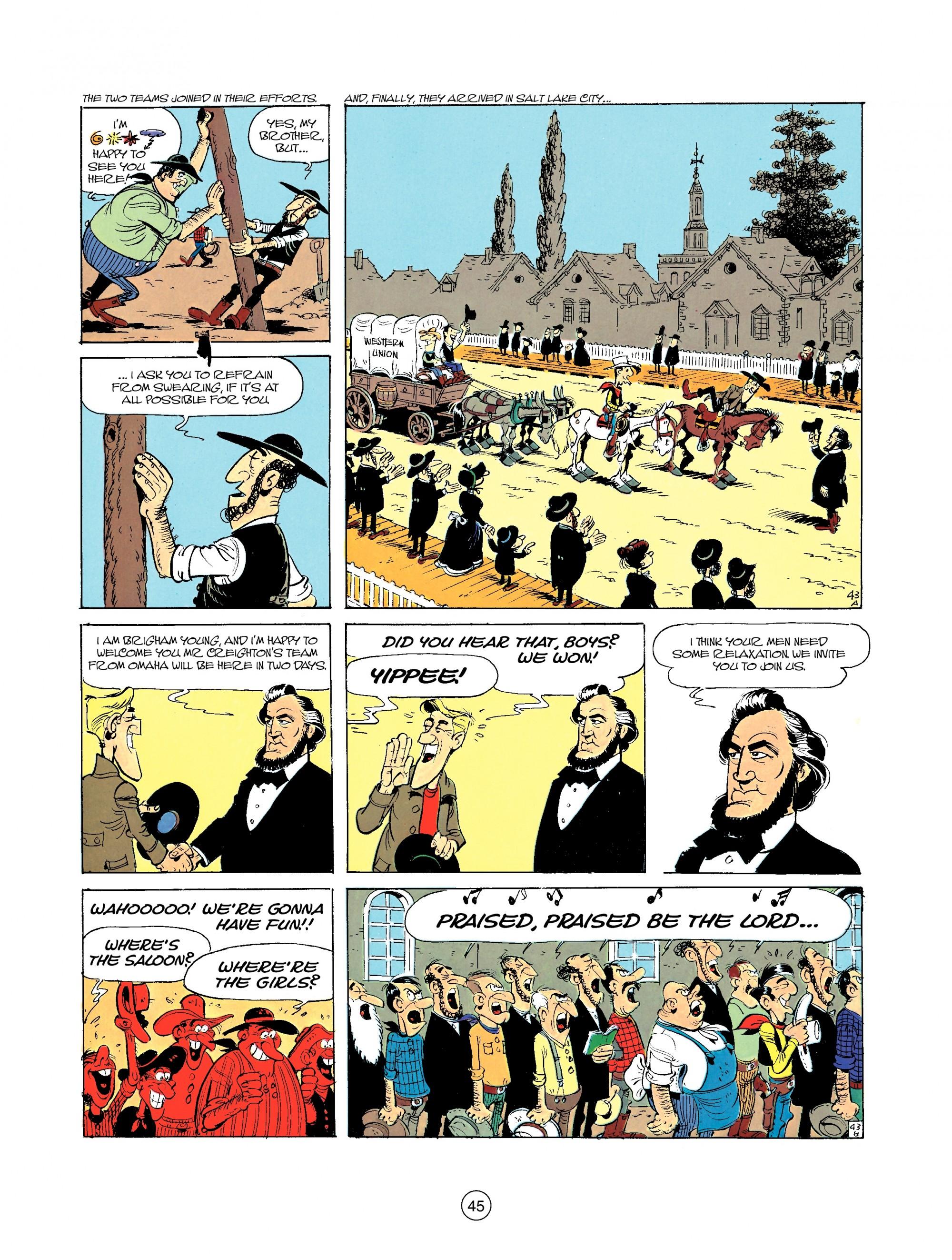 Read online A Lucky Luke Adventure comic -  Issue #35 - 45