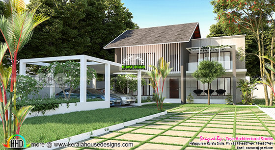 Fusion style house in 2780 square feet with 4 bedroom