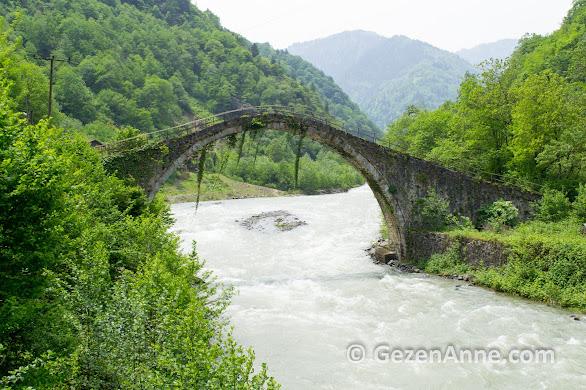 Rize'nin en eski kemer köprüsü Şenyuva köprüsü 1696 yılında yapılmış