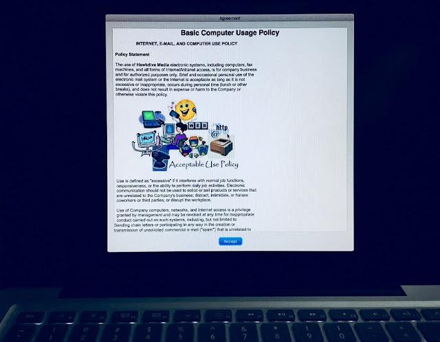 Policy Banner before Login Screen in Mac