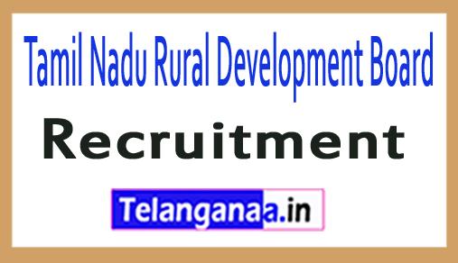 Tamil Nadu Rural Development Board TNBRD Recruitment