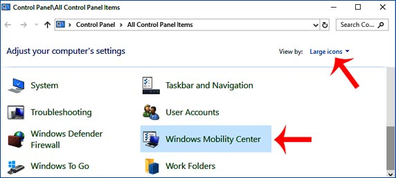 Windows Mobility Center access kaise kare
