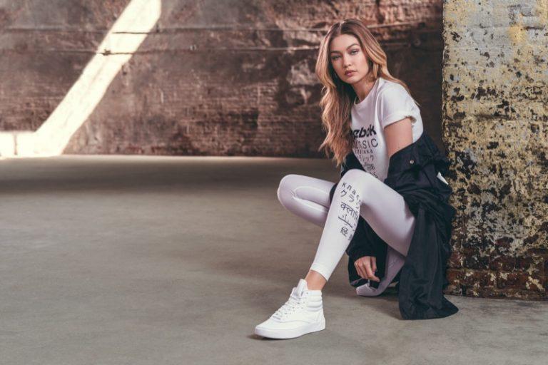 Reebok Freestyle Hi Nova Campaign featuring Gigi Hadid 402845fec