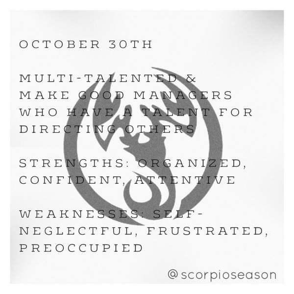 30 october scorpio horoscope