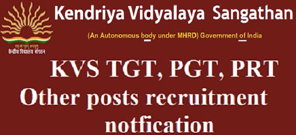 Kendriya Vidyalaya Recruitment 2018 for 8339 Posts