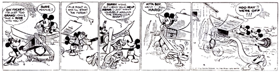 Minnie Mouse, the first comic strip