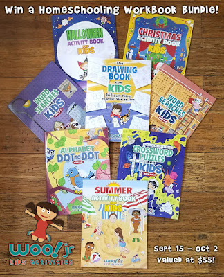 Woo Jr drawing and activity books