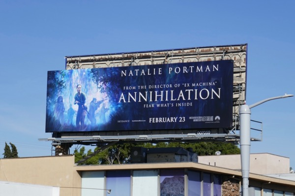 Annihilation movie billboard