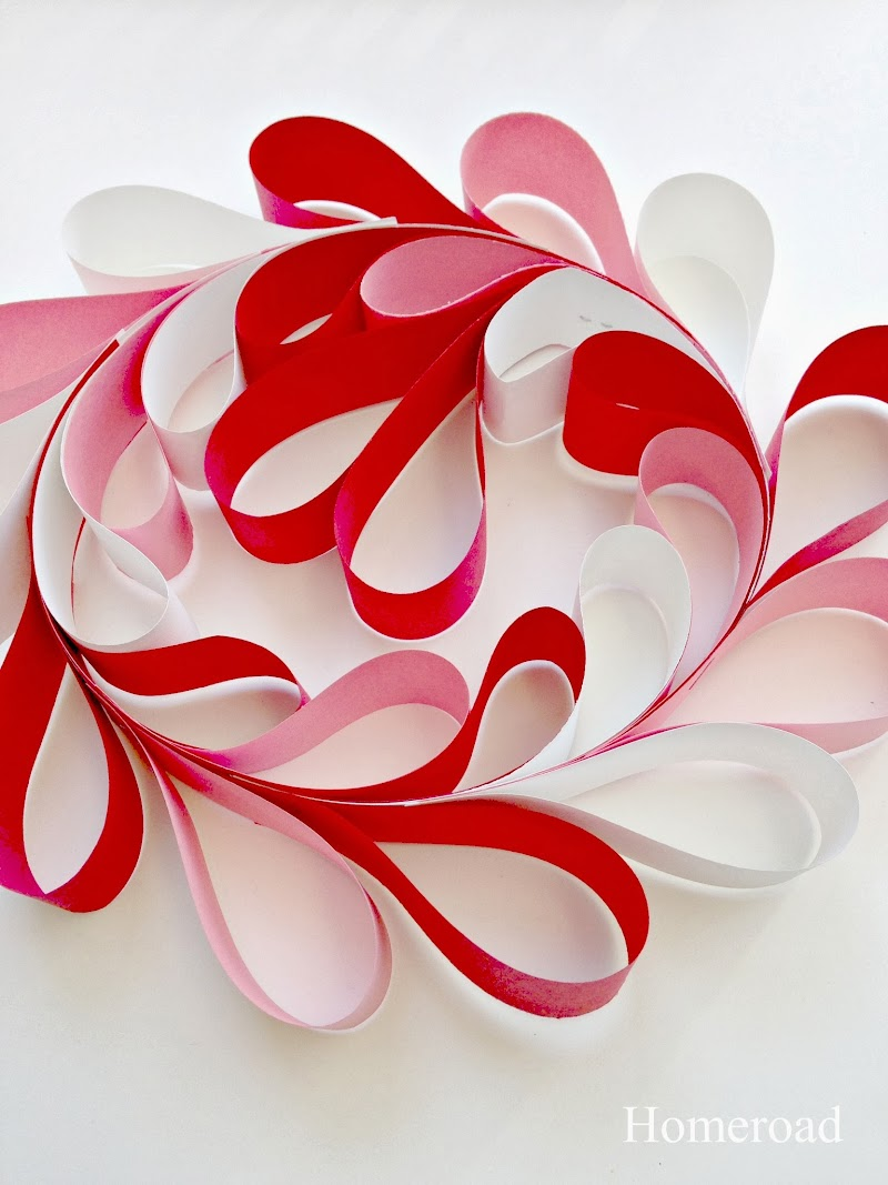 Paper Heart Wreath for any Holiday