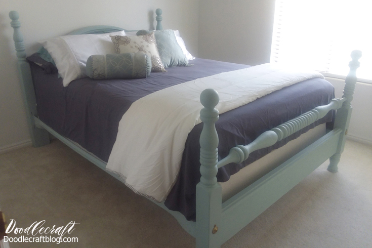 Doodlecraft Update Old Bed With Chalk Paint - Update old bedroom furniture