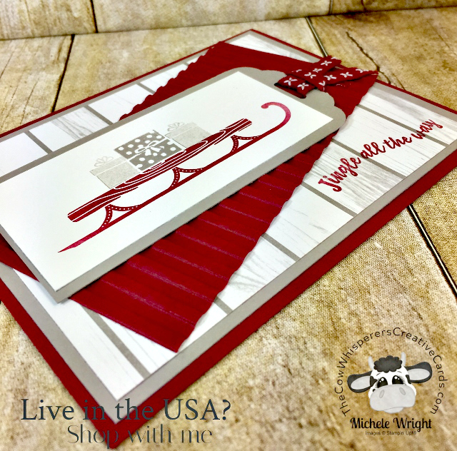 Card, Alpine Adventure, Corrugated Embossing Folder, Christmas