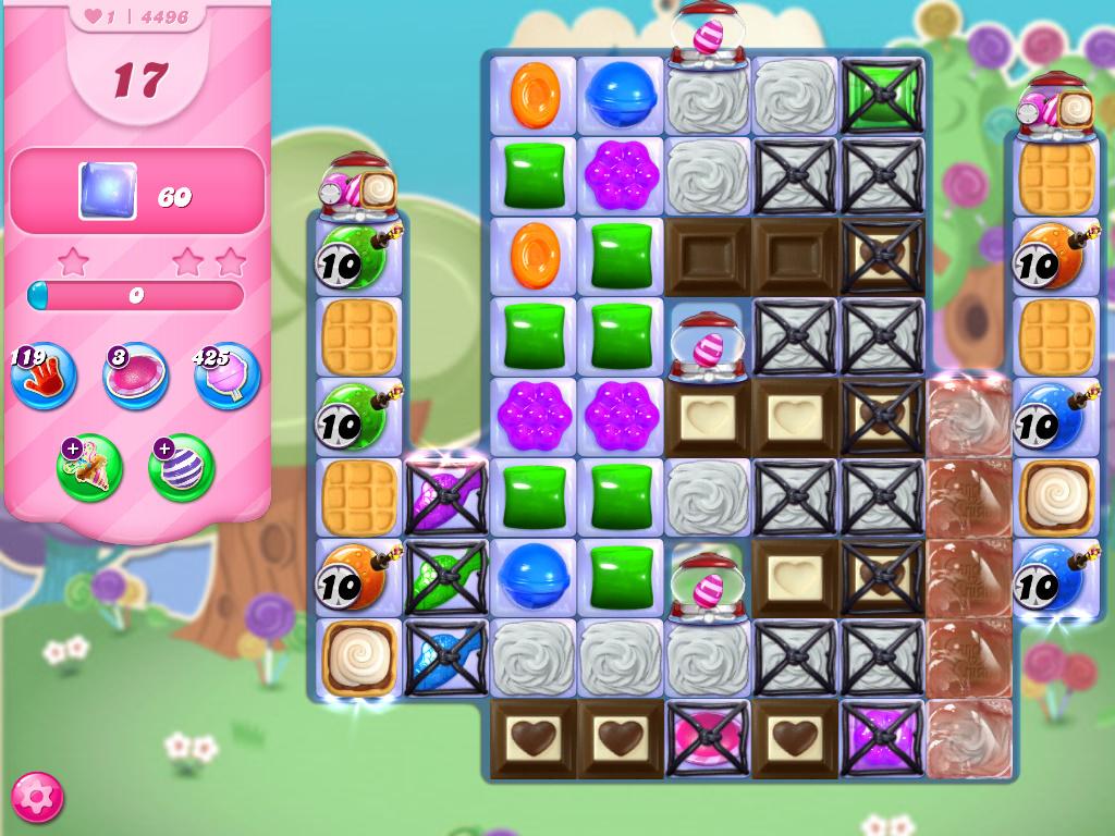 Candy Crush Saga level 4496