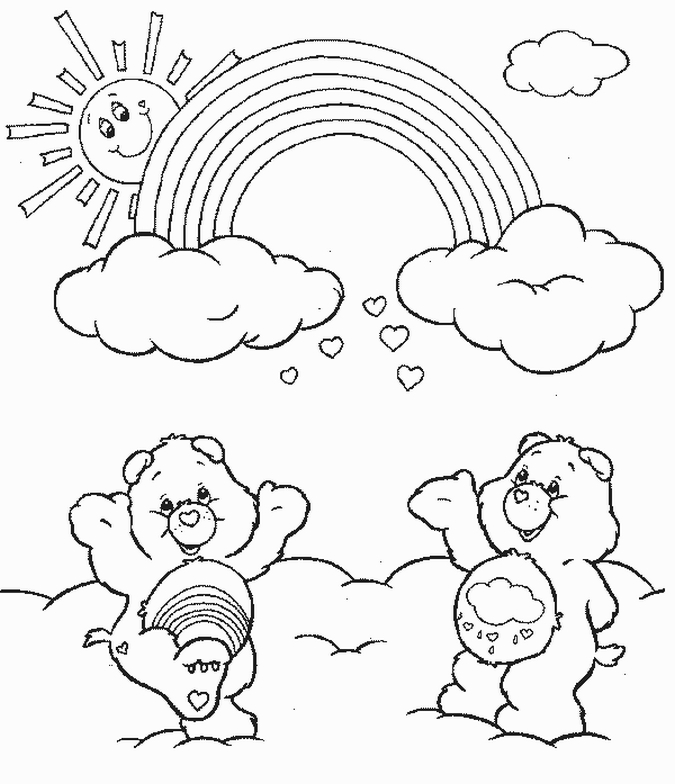 rainbow care bear coloring page - care bears coloring pages learn to coloring