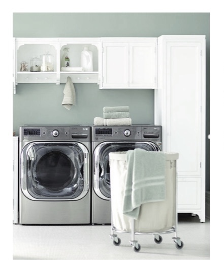 ... Finished Look And To Improve The Function Of The Space By Providing A  Ton Of Storage, I Selected Pieces From The Martha Stewart Laundry Cabinet  ...