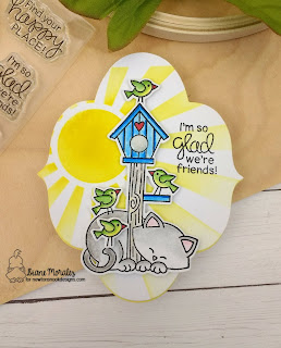 Glad We Are Friends a card by Diane Morales | Newton's Birdhouse Stamp Set by Newton's Nook Designs