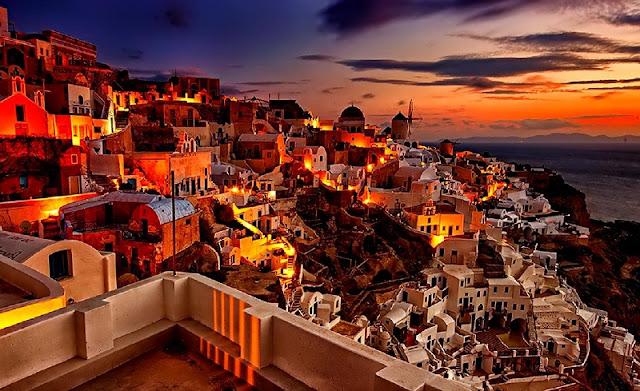 Passeios românticos em Santorini, Grécia
