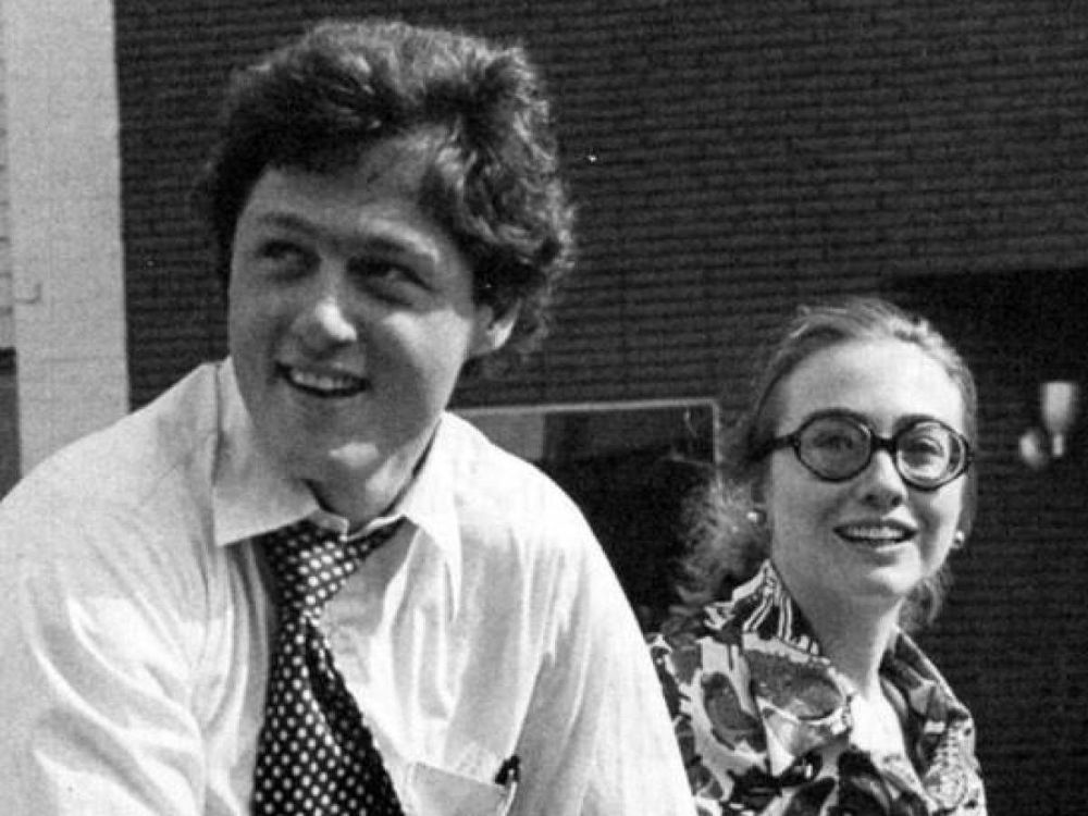 Vintage Photographs Of Young Bill And Hillary Clinton From
