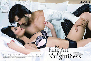 Sonali Raut & Ranveer Singh Hot pics for Maxim India