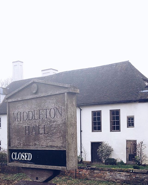 Middleton Hall for coffee and chit chat