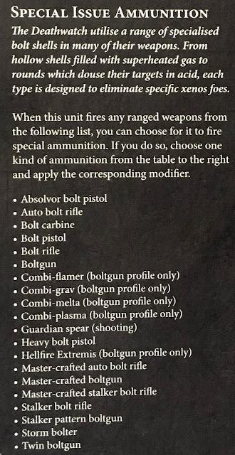 Armas Deathwatch Munición especial