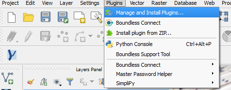 Manage and Install Plugin menu