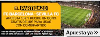 betfair promocion Barcelona vs Sevilla 20 octubre