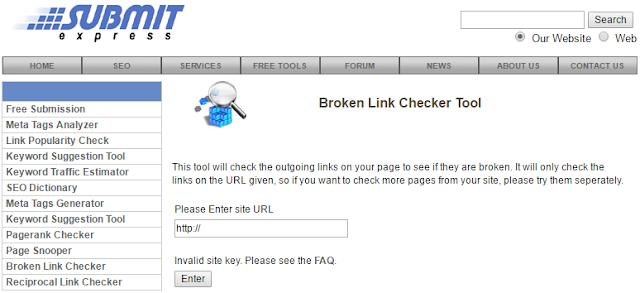 Submit Express Broken link Checker Tool