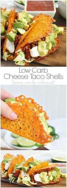 CHEESE TACO SHELLS FOR A LOW CARB TACO NIGHT!
