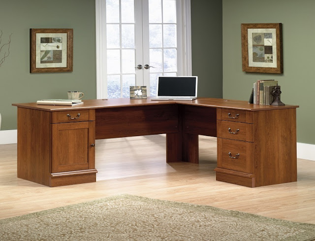 best buy wood l shaped home office furniture Edmonton for sale