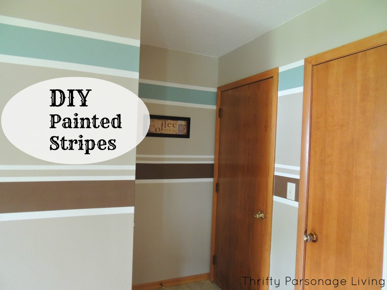 Thrifty Parsonage Living Painting Horizontal Stripes On