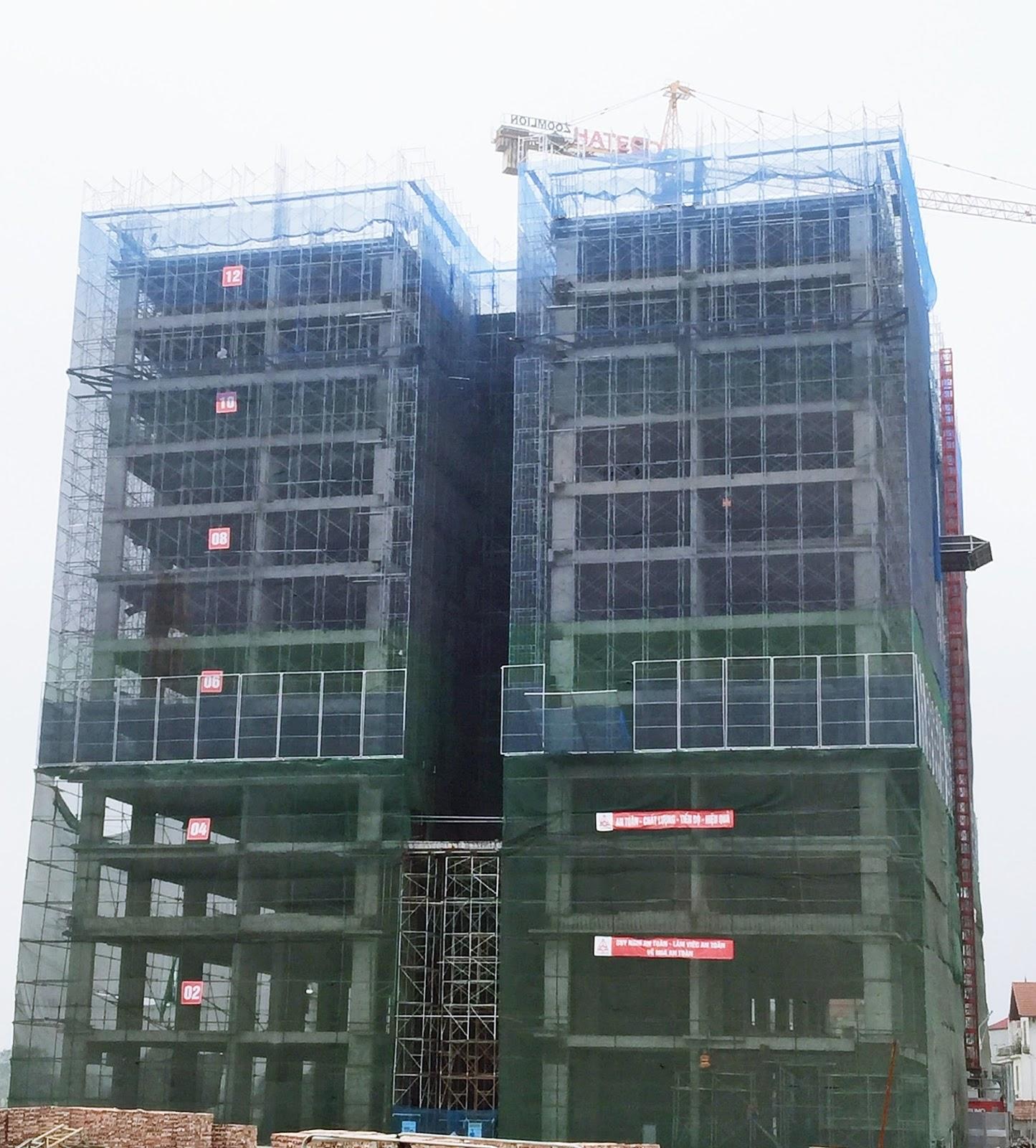 Tòa CT1B đã xây dựng tới tầng 13