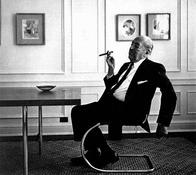 Mies, Sitting and Smoking