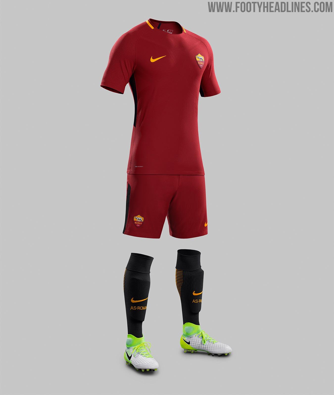 AS Roma 17 18 Home Kit Revealed Footy Headlines