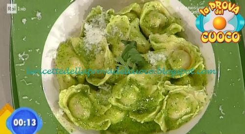 Tortelli al prosciutto con pesto di rucola ricetta Bongiovanni da Prova del Cuoco