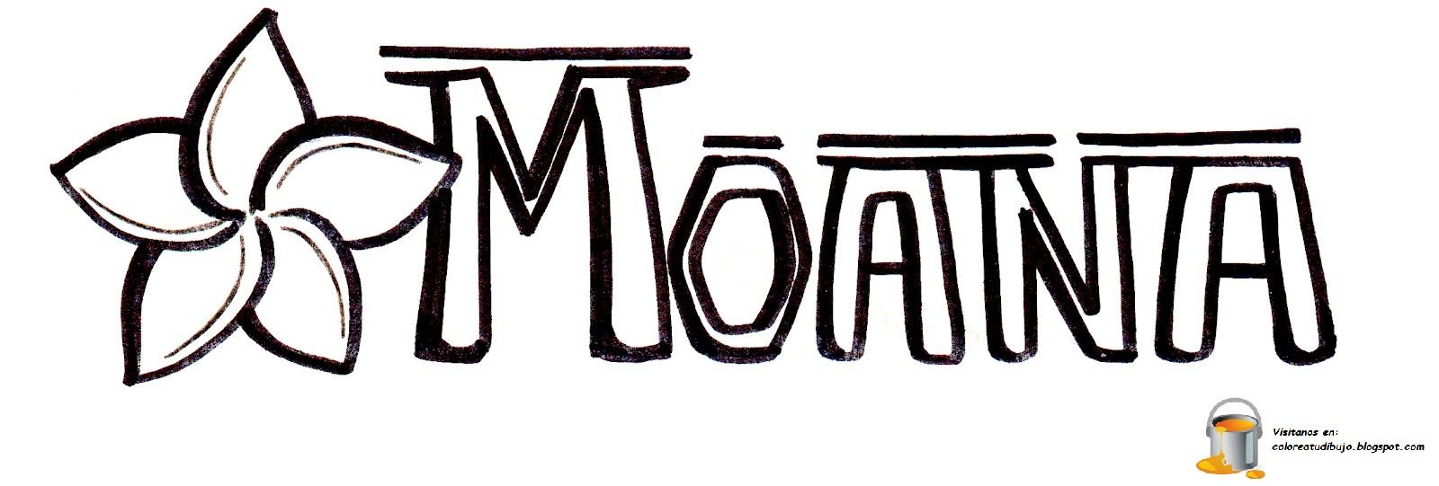 Dibujo Para Colorear De Maui Personaje Película Moana: Dibujos Para Colorear De Moana