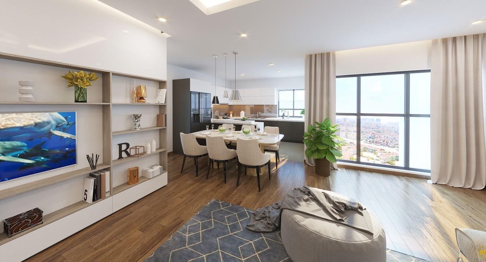 Không gian căn hộ mới Kiên Hoàng mới chia sẻ