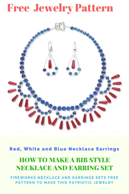 Free Patriotic Jewelry Design Necklace and Earring Set