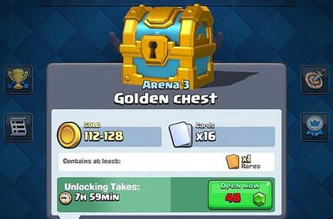 Clash Royale Coins hack, Open chest