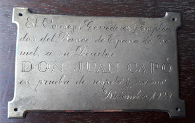 Homenaje en Teruel a Juan Capó González en 1929
