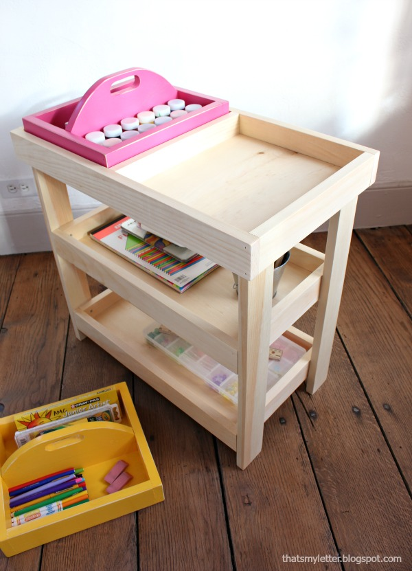diy art cart and portable caddy free plans