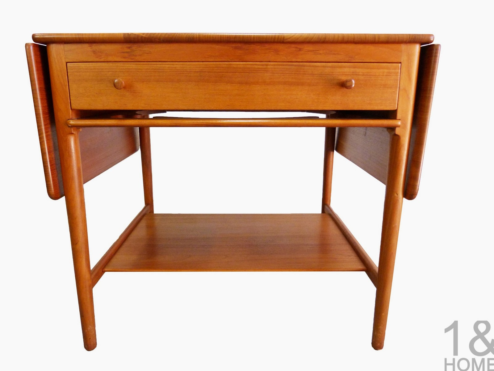 Hans Wegner Andreas Tuck AT-33 Danish Modern Teak Sewing Table
