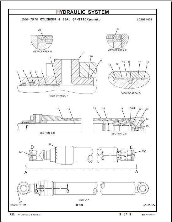 Cat 320d parts Manual Books SEBP4874-11 - Excavator